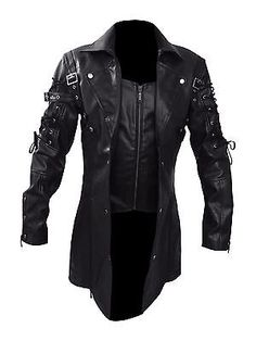 Looking for Steampunk Black Renaissance Punk Faux Leather Victorian Gothic Coat ? Check out our picks for the Steampunk Black Renaissance Punk Faux Leather Victorian Gothic Coat from the popular stores - all in one. Gothic Trench Coat, Leather Trench Coat, Mens Leather Coats, Black Leather, Real Leather, Leather Jackets, Pu Leather, Sheep Leather, Cyberpunk Mode