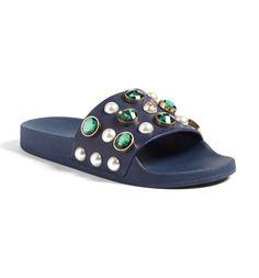 Main Image - Tory Burch Vail Embellished Slide Sandal (Women)