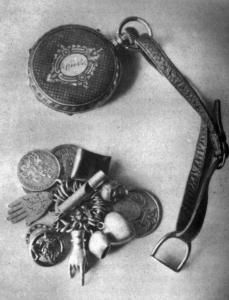 Talisman and clocks of the empress Elisabeth