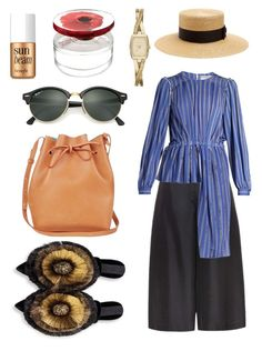 """Без названия #9"" by e-vlasova on Polyvore featuring мода, Valentino, Balenciaga, Gucci, Mansur Gavriel, Ray-Ban, DKNY, Benefit и Kenzo"