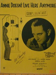 Annie Doesn't Live Here Anymore sheet music by Joe Young