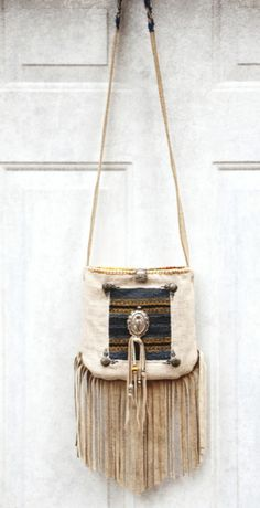 Gypsy Cowgirl leather fringe shoulder bag . satchel . purse . crossover
