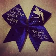 Luv my this cheer bow! Disney Cheer Bows, Cute Cheer Bows, Cheer Hair Bows, Cheerleading Bows, Cheer Mom, Dance Bows, Cheer Dance, Tinkerbell Party, Cheer Party