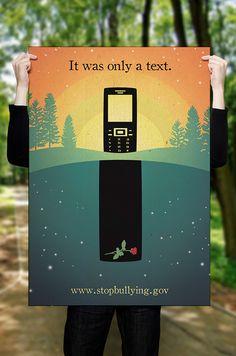 Anti-Bullying Campaign (PSA Poster Design) on Behance Like & Repin. Noelito…