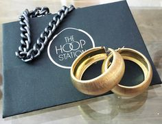Gold Small Hoop Ring 38mm Luxury Fashion Earring Boho Festival Party Boutique Uk