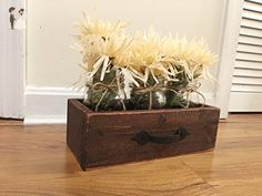 Rustic Reclaimed Wood Drawer With Mason Jars, Reclaimed Box Crate, Rustic Mason Jar Centerpiece Box - Venue and reception decor (*Amazon Partner-Link)