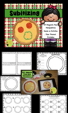 Subitizing! DIY Magnetic Pizza: Math Manipulatives. Use to build number sense in a very hands on way. Great for kinesthetic learners! $