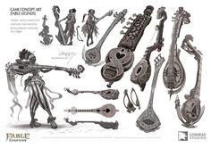 ArtStation - Fable Legends - Verse Hero Character & instrument ideas, Ross Dearsley