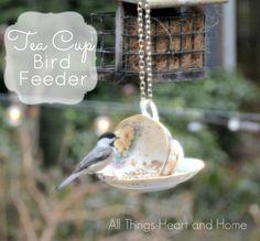 Teacup Bird Feeder -