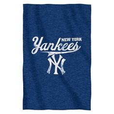 "New York Yankees 54""x84""Sweatshirt Blanket - Script Design"