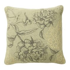 Sketched Floral Pillow