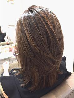 Bangs With Medium Hair, Medium Hair Cuts, Long Hair Cuts, Medium Hair Styles, Curly Hair Styles, Brown Bob Hair, Brown Hair Shades, Asian Hair Bob, Japan Hairstyle