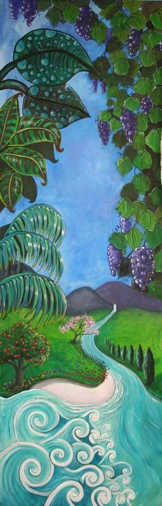 Creation Mural - Day 3 (3 x 1 m) by Australian artist Selinah Bull {children's art} http://www.selinahbull.com