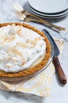 The freezer is the key to our no-bake coconut cream pie recipe. — via @PureWow
