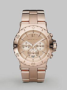 Michael Kors - Stainless Steel Chronograph Watch/Rose Gold