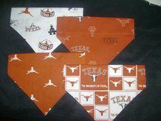 Texas Longhorn Dog Bandanas by DogGoneGoodBandanas on Etsy, $7.00
