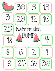 lots of math activities with watermelons