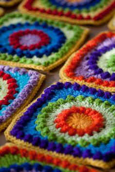 Color, circles into squares