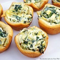 Spinach Artichoke Bites. #recipe #appetizer