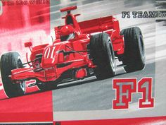 """Ferrari passion! #Tessuto stampato da #arredamento ideale per confezione #cuscini, #copridivani, #copritavoli, #copriletti ecc Disegno """"#Ferrari"""" Colori: rosso , grigio e nero"""
