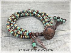 Indian Head Bracelet/ Native American Wrap Bracelet/