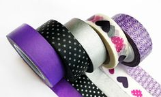 Purple / Silver / Black / Hearts / Washi Tape en México, productos de manualidades, DIY y accesorios para fiestas / Party and DIY stuff ventas@washitapemexico.com www.washitapemexico.com