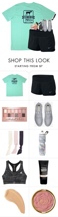 """gym class"" by hmcdaniel01 ❤ liked on Polyvore featuring NIKE, Maybelline, Splendid, Victoria's Secret, adidas, NARS Cosmetics, Milani, Physicians Formula and bestiesbacktoschool"