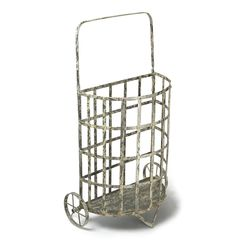 Reproduction Iron Shopping Cart - 37 inches high x 21 inches wide x 9 inches deep
