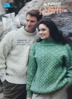 Sweater Knitting Patterns True North DK Patons 707 by elanknits (Craft Supplies & Tools, Patterns & Tutorials, Fiber Arts, Knitting, knitting patterns, sweater patterns, jumper patterns, True North DK, Patons 707, cardigan pattern, knitting pattern, roses sweater, men, women, sweater pattern, jumper pattern, turtleneck pattern)
