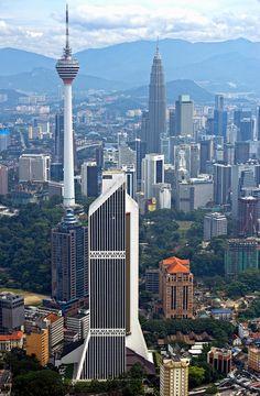 ༺♥༻ BEAUTIFUL PLACES ༺♥༻  **Towers of Kuala Lumpur | Malaysia (by Yaman Ibrahim)**