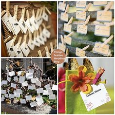 creative wedding place card ideas