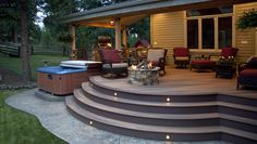 When it comes to outfitting an outdoor space, hot tubs are must-haves for many homeowners. Adding a hot tub to your deck, however, requires careful planning. You need to consider everything from en… Concrete Patios, Concrete Slab, Pergola Shade, Pergola Patio, Pergola Kits, Pergola Ideas, Pergola Plans, Patio Bar, Cheap Pergola