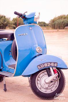 Blue Vespa Photography Vintage Style Blue Vespa by hellotwiggs, $15.00