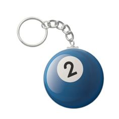 NUMBER TWO BILLIARDS BALL KEYCHAIN Zazzle_keychain...Christmas gifts for the kids