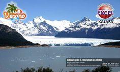 Disfruta de uno de los paisajes más hermosos del mundo, los Glaciares de Calafate, este Verano Excel Tours Xalapa te invita a que tengas las mejores vacaciones de tu vida!
