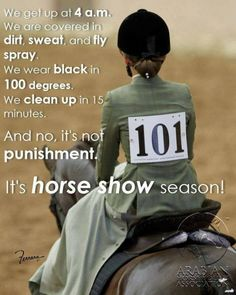 I do it and very happy, but always is show season! :)