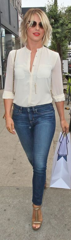 Julianne Hough: Purse – Chloe  Jeans – Paper Denim & Cloth