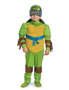 teenage mutant ninja turtles leonardo muscle toddler child costume includes jumpsuit with muscle torso turtle shell and headpiece - Halloween Scary Costumes For Boys