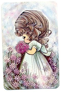 Flowers Vintage Art Sarah Kay Ideas For 2019 Art Vintage, Vintage Cards, Vintage Postcards, Cute Images, Cute Pictures, Art Mignon, Image Digital, Holly Hobbie, Illustrations