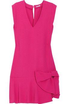 Miu Miu's fuchsia crepe dress is an unabashedly feminine way to work this season's high-octane brights