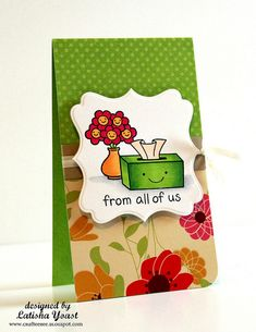 A card I made for a Lawn Fawn release, using @Spellbinders die template and copic markers