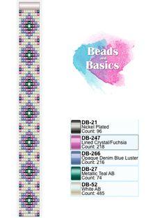 miyuki delica beadloom pattern - patronen voor weefarmbandjes