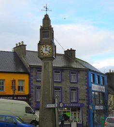 https://flic.kr/p/7eBSzT | Clock Tower in Westport | When we arrived in Westport, it was raining so hard...our jeans got completely soaked.  Duane and I found a chemist and I got some cold medicine.  As we walked out of the pharmacy...the sun came out!  Yay, Irish weather!    From Wikipedia: Westport, historically known as Cahernamart[6] (Irish: Cathair na Mart), is a town in County Mayo, Ireland. It is situated on the west coast of Ireland, at the south-east corner of Clew Bay, an inlet of…
