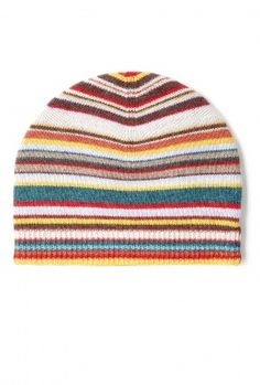 Multi Stripe Beanie by Paul Smith Accessories