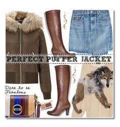 """Puffer Bomber Jacket"" by anne-irene ❤ liked on Polyvore featuring rag & bone, Alena Akhmadullina, Miss Selfridge, Avon, Tory Burch and Oscar de la Renta"