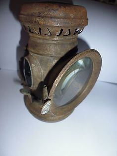 Antique french supra luxor candle bicycle light complete ...