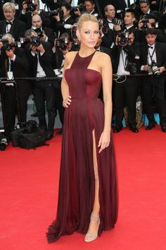 In a Gucci Première gown with Casadei sandals and Lorraine Schwartz jewelry at the Grace of Monaco premiere and opening ceremony of the Cannes Film Festival in 2014. See all of Blake Lively's best looks.
