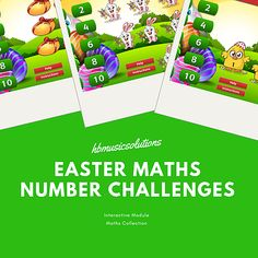 Easter Maths Number Challenges Vocal Lessons, Math Numbers, Recital, Challenges, Easter, Music, Math Resources, Musik, Easter Activities