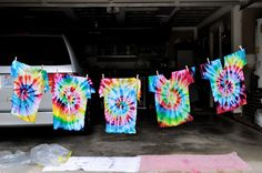 tye dye shirts totally want to do that this summer!!