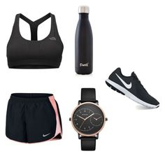 """Sports wear"" by kyla-316758 on Polyvore featuring NIKE, The North Face, S'well and Skagen"